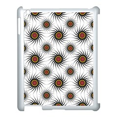 Pearly Pattern Half Tone Background Apple Ipad 3/4 Case (white) by Simbadda