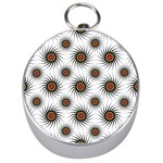 Pearly Pattern Half Tone Background Silver Compasses Front