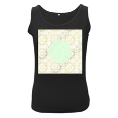 Seamless Abstract Background Pattern Women s Black Tank Top