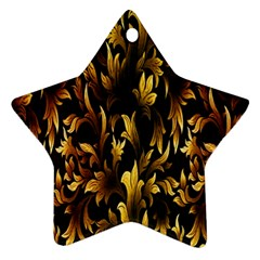 Loral Vintage Pattern Background Star Ornament (two Sides)