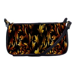 Loral Vintage Pattern Background Shoulder Clutch Bags by Simbadda