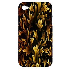 Loral Vintage Pattern Background Apple Iphone 4/4s Hardshell Case (pc+silicone) by Simbadda