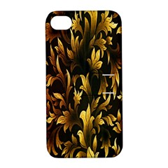 Loral Vintage Pattern Background Apple Iphone 4/4s Hardshell Case With Stand by Simbadda