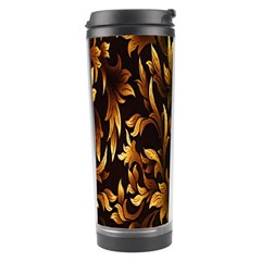 Loral Vintage Pattern Background Travel Tumbler by Simbadda