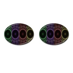 Digital Colored Ornament Computer Graphic Cufflinks (oval) by Simbadda