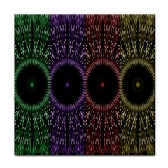Digital Colored Ornament Computer Graphic Face Towel by Simbadda