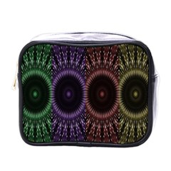 Digital Colored Ornament Computer Graphic Mini Toiletries Bags
