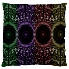 Digital Colored Ornament Computer Graphic Large Cushion Case (two Sides) by Simbadda