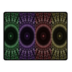 Digital Colored Ornament Computer Graphic Double Sided Fleece Blanket (small)  by Simbadda