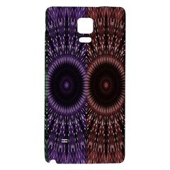 Digital Colored Ornament Computer Graphic Galaxy Note 4 Back Case by Simbadda