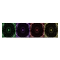 Digital Colored Ornament Computer Graphic Satin Scarf (oblong)