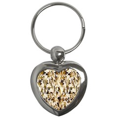 Floral Vintage Pattern Background Key Chains (heart)  by Simbadda