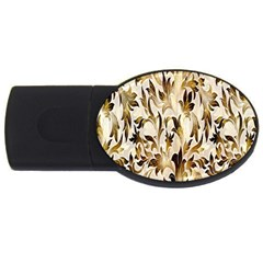 Floral Vintage Pattern Background Usb Flash Drive Oval (2 Gb)