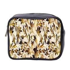 Floral Vintage Pattern Background Mini Toiletries Bag 2 Side by Simbadda