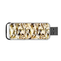 Floral Vintage Pattern Background Portable Usb Flash (one Side) by Simbadda