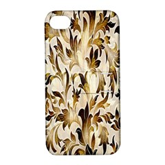 Floral Vintage Pattern Background Apple Iphone 4/4s Hardshell Case With Stand