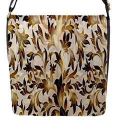 Floral Vintage Pattern Background Flap Messenger Bag (s)