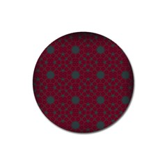 Blue Hot Pink Pattern With Woody Circles Magnet 3  (round) by Simbadda