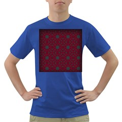 Blue Hot Pink Pattern With Woody Circles Dark T Shirt