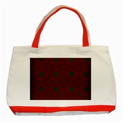 Blue Hot Pink Pattern With Woody Circles Classic Tote Bag (red)