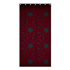 Blue Hot Pink Pattern With Woody Circles Shower Curtain 36  X 72  (stall)  by Simbadda