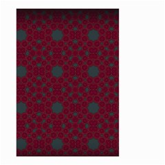 Blue Hot Pink Pattern With Woody Circles Small Garden Flag (two Sides) by Simbadda