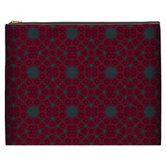 Blue Hot Pink Pattern With Woody Circles Cosmetic Bag (xxxl)  by Simbadda