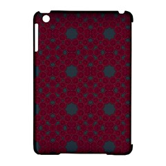Blue Hot Pink Pattern With Woody Circles Apple Ipad Mini Hardshell Case (compatible With Smart Cover) by Simbadda