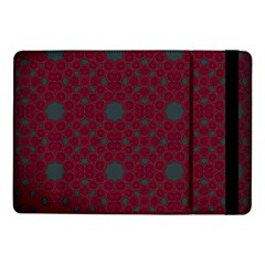 Blue Hot Pink Pattern With Woody Circles Samsung Galaxy Tab Pro 10 1  Flip Case by Simbadda