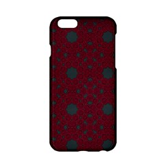 Blue Hot Pink Pattern With Woody Circles Apple Iphone 6/6s Hardshell Case by Simbadda