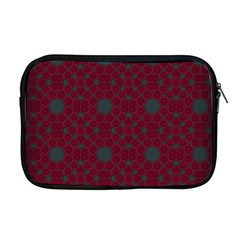 Blue Hot Pink Pattern With Woody Circles Apple Macbook Pro 17  Zipper Case by Simbadda