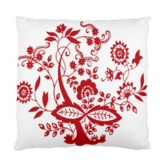 Red Vintage Floral Flowers Decorative Pattern Clipart Standard Cushion Case (two Sides) by Simbadda