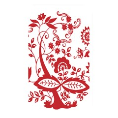 Red Vintage Floral Flowers Decorative Pattern Clipart Memory Card Reader