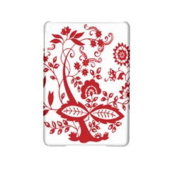 Red Vintage Floral Flowers Decorative Pattern Clipart Ipad Mini 2 Hardshell Cases