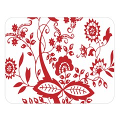 Red Vintage Floral Flowers Decorative Pattern Clipart Double Sided Flano Blanket (large)