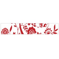 Red Vintage Floral Flowers Decorative Pattern Clipart Flano Scarf (large) by Simbadda
