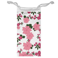 Vintage Floral Wallpaper Background In Shades Of Pink Jewelry Bag