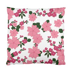 Vintage Floral Wallpaper Background In Shades Of Pink Standard Cushion Case (two Sides) by Simbadda