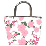 Vintage Floral Wallpaper Background In Shades Of Pink Bucket Bags Front
