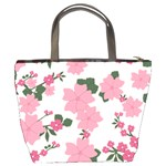 Vintage Floral Wallpaper Background In Shades Of Pink Bucket Bags Back
