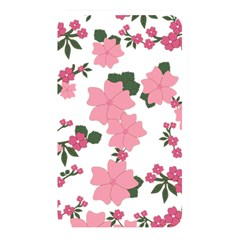 Vintage Floral Wallpaper Background In Shades Of Pink Memory Card Reader