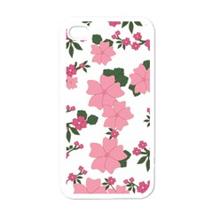 Vintage Floral Wallpaper Background In Shades Of Pink Apple Iphone 4 Case (white) by Simbadda