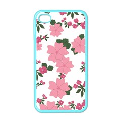 Vintage Floral Wallpaper Background In Shades Of Pink Apple Iphone 4 Case (color) by Simbadda