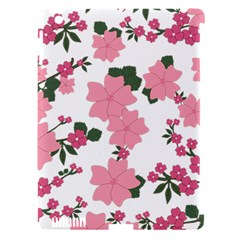 Vintage Floral Wallpaper Background In Shades Of Pink Apple Ipad 3/4 Hardshell Case (compatible With Smart Cover) by Simbadda