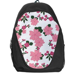 Vintage Floral Wallpaper Background In Shades Of Pink Backpack Bag by Simbadda