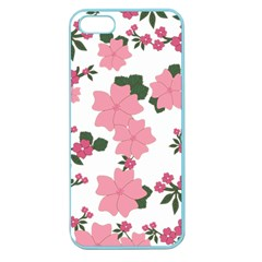 Vintage Floral Wallpaper Background In Shades Of Pink Apple Seamless Iphone 5 Case (color) by Simbadda