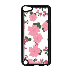 Vintage Floral Wallpaper Background In Shades Of Pink Apple Ipod Touch 5 Case (black) by Simbadda