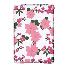 Vintage Floral Wallpaper Background In Shades Of Pink Apple Ipad Mini Hardshell Case (compatible With Smart Cover)