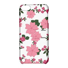 Vintage Floral Wallpaper Background In Shades Of Pink Apple Ipod Touch 5 Hardshell Case With Stand