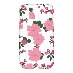 Vintage Floral Wallpaper Background In Shades Of Pink Samsung Galaxy S4 I9500/i9505 Hardshell Case by Simbadda